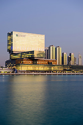 New Cleveland Clinic on Al Maryah Island in Abu Dhabi United Arab Emirates