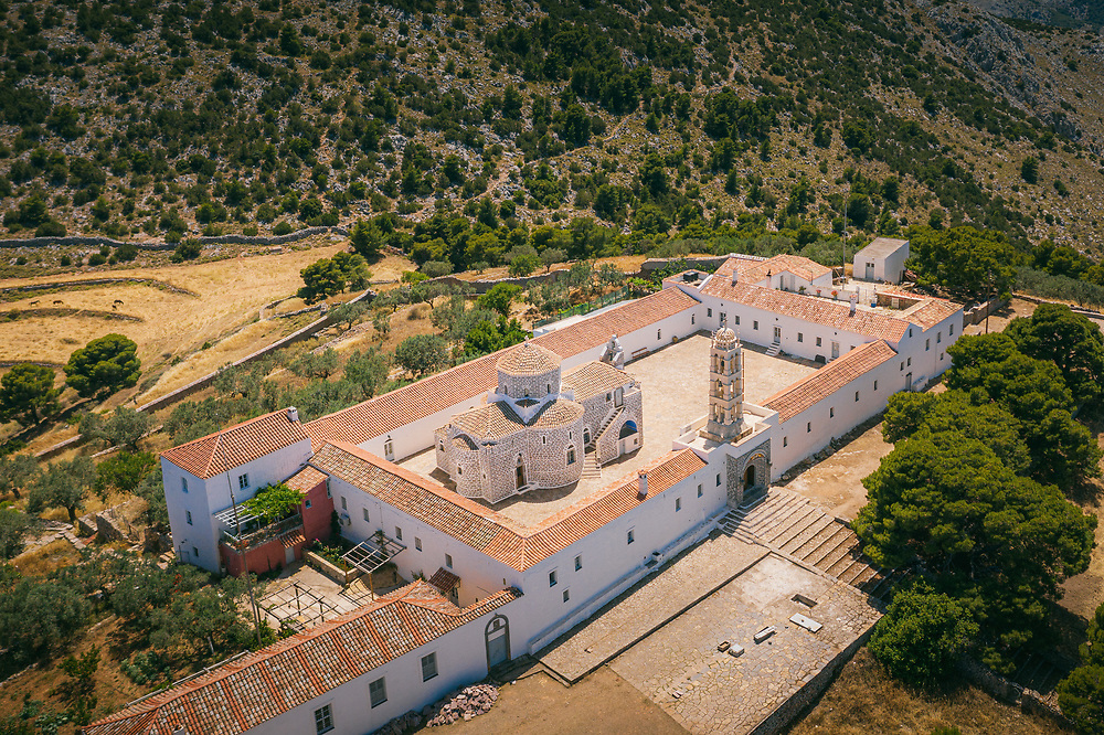 Prophet Elias Monastery at Hydra Island, Greece