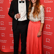 Alex Macqueen and guest attends The British Heart Foundation's Heart Hero Awards at The Globe Theatre, to celebrate and say thank you to the charity's inspirational supporters. Picture date: Friday 5 October 2018. Hosted by Kay Burley, awards went to selfless fundraisers and those who have shown remarkable bravery and gone above and beyond to help others. Nominations are now open for next year's Heart Hero Awards.