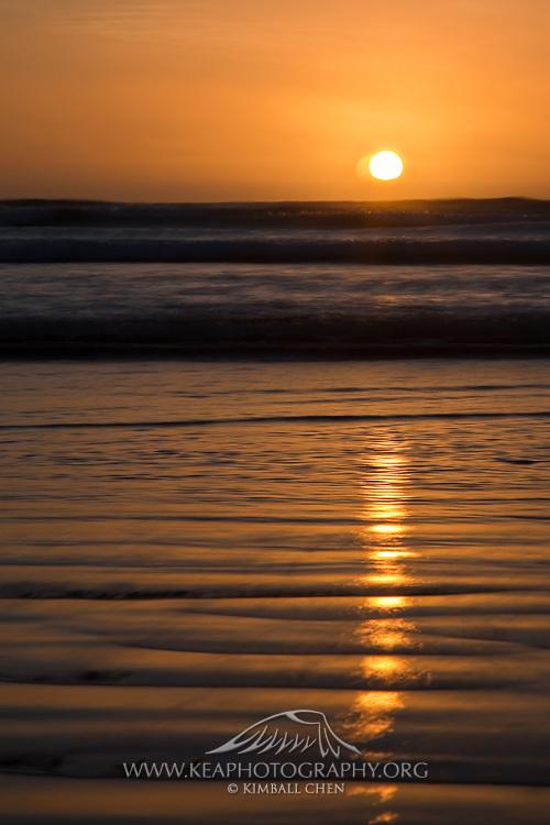 Oreti Beach Sunset, Invercargill, Southland, New Zealand