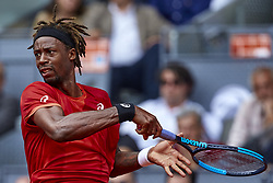 May 9, 2018 - Madrid, Madrid, Spain - Gael Monfils of France in action during his match against Rafael Nadal of Spain during day five of the Mutua Madrid Open tennis tournament at the Caja Magica on May 9, 2018 in Madrid, Spain  (Credit Image: © David Aliaga/NurPhoto via ZUMA Press)