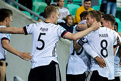LJUBLJANA, SLOVENIA - JUNE 06: Lukas Nmecha of Germany celebrates with his team-mates after scoring their side's first goal  during the 2021 UEFA European Under-21 Championship Final match between Germany and Portugal at Stadion Stozice on June 6, 2021 in Ljubljana, Slovenia. Photo by Grega Valancic / Sportida