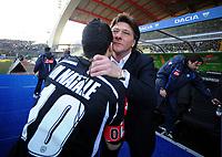 """Walter Mazzarri, allenatore Napoli, saluta Di Natale.<br /> Udine, 7/02/2010 Stadio """"Friuli""""<br /> Udinese-Napoli.<br /> Campionato Italiano Serie A 2009/2010<br /> Foto Nicolò Zangirolami Insidefoto"""