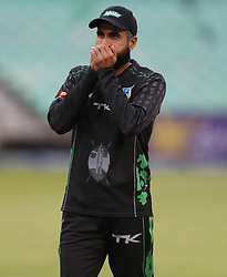 Imran Tahir of Hollywoodbets Dolphins during the T20 Challenge cricket match between the Hollywoodbets Dolphins and VKB Knights  at the Kingsmead stadium in Durban, KwaZulu Natal, South Africa on the 11 Dec 2016<br /> <br /> Photo by:   Steve Haag / Real Time Images