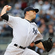 David Phelps, New York Yankees, pitching during the New York Yankees V Baltimore Orioles home opening day at Yankee Stadium, The Bronx, New York. 7th April 2014. Photo Tim Clayton