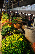Fresh vegetables and food produce in Fethiye market, Turkey