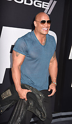 """Dwayne Johnson attends The World Premiere of """"The Fate of the Furious"""" on April 8, 2017 at Radio City Music Hall in New York, New York, USA. *** Please Use Credit from Credit Field ***"""