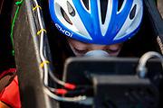 Atlete Jennifer Breet stapt in de VeloX. Op zondagochtend vinden de kwalificaties plaats. Het Human Power Team Delft en Amsterdam, dat bestaat uit studenten van de TU Delft en de VU Amsterdam, is in Amerika om tijdens de World Human Powered Speed Challenge in Nevada een poging te doen het wereldrecord snelfietsen voor vrouwen te verbreken met de VeloX 9, een gestroomlijnde ligfiets. Het record is met 121,81 km/h sinds 2010 in handen van de Francaise Barbara Buatois. De Canadees Todd Reichert is de snelste man met 144,17 km/h sinds 2016.<br /> <br /> With the VeloX 9, a special recumbent bike, the Human Power Team Delft and Amsterdam, consisting of students of the TU Delft and the VU Amsterdam, wants to set a new woman's world record cycling in September at the World Human Powered Speed Challenge in Nevada. The current speed record is 121,81 km/h, set in 2010 by Barbara Buatois. The fastest man is Todd Reichert with 144,17 km/h.
