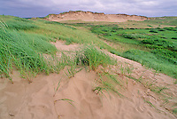 Prince Edward Island National Park features the iron-rich red sand dunes, PEI, Canada.