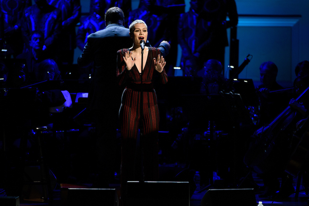"""Photos of Jessie J performing live for the """"It Always Seems Impossible Until It Is Done"""" World AIDS Day event at Carnegie Hall in New York, NY on December 1, 2015. © Matthew Eisman/ Rolling Stone. All Rights Reserved"""