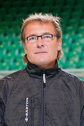 Hannu Järvenpää, head coach of HDD Tilia Olimpija ice-hockey team for season 2011/2012 at official photo shooting in Hala Tivoli, Ljubljana, on August 16, 2011, in Ljubljana, Slovenia. (Photo by Matic Klansek Velej / Sportida)