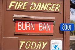 Fire danger sign