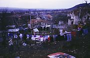 Roma village countryside, Slovakia.