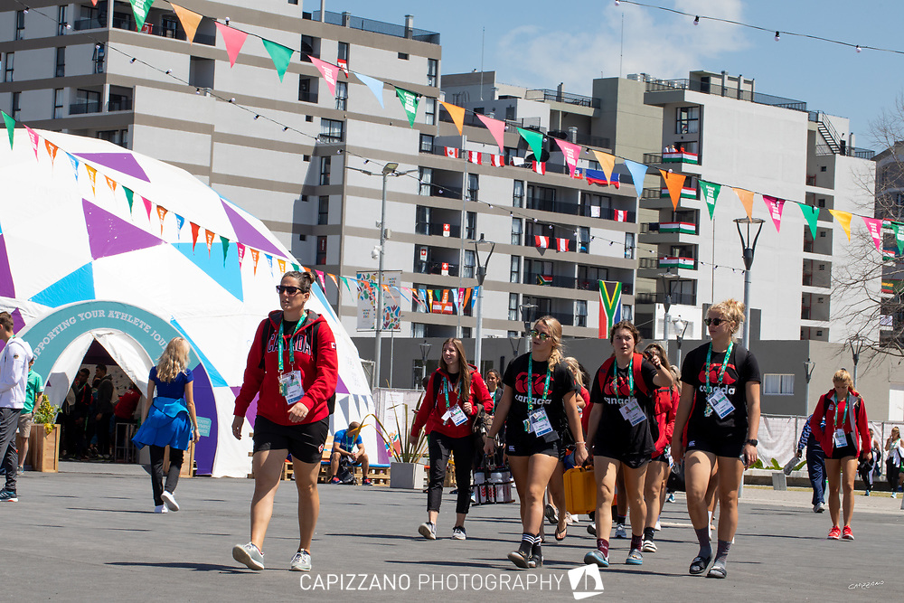 2018 Buenos Aires Youth Olympic Games. <br /> <br /> Five sailing events with 100 sailors from 44 different nations are taking place at Club Náutico San Isidro, Argentine including Girl's and Boy's Kiteboarding (Twin Tip Racing) and the Mixed Multihull (Nacra 15). Elsewhere, Girl's and Boy's Windsurfing (Techno 293+) are returning for its third consecutive Games from 6 to 18 October 2018. Youth Olympic Village.© Matias Capizzano / World Sailing