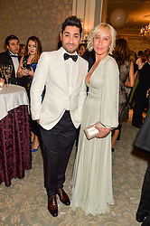 MICHAEL RUSSO and ANNA REEVE at the Gift of Life Old Russian New Year's Eve charity gala held at The Savoy Hotel, London on 13th January 2016.