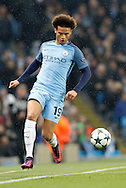 Manchester City's Leroy Sane (19) during the Champions League match between Manchester City and Celtic at the Etihad Stadium, Manchester, England on 6 December 2016. Photo by Craig Galloway.