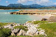 Kailua Bay from Popoia Island (Flat Island), Oahu, Hawaii