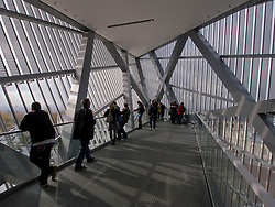 Viewing platform at the newly reopened  Military Historical Museum of the Bundeswehr (MHM) in Dresden Saxony Germany Architect Daniel Libeskind