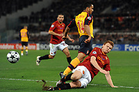 """Theo WALCOTT (L) (Arsenal) John Arne RIISE (R) (Roma) <br /> Roma 11/3/2009 Stadio """"Olimpico"""" <br /> Champions League First Knockout round 2nd Leg """"2008/2009"""" <br /> Roma Arsenal 1-0 6-7 after penalties<br /> foto Andrea Staccioli Insidefoto"""
