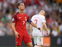 2016.06.30 Marsylia Marseille<br /> Pilka nozna Euro 2016 mecz cwiercfinal <br /> Polska - Portugalia <br /> N/z Cristiano Ronaldo<br /> Foto Lukasz Laskowski / PressFocus<br /> <br /> 2016.06.30 Marsylia Marseille<br /> Football UEFA Euro 2016 quarter finals<br /> Poland and Portugal<br /> Cristiano Ronaldo<br /> Credit: Lukasz Laskowski / PressFocus