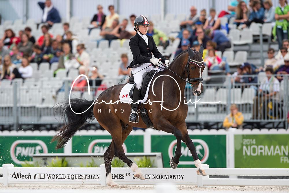 Roberta Sheffield, (CAN), Bindro T - Individual Test Grade III Para Dressage - Alltech FEI World Equestrian Games™ 2014 - Normandy, France.<br /> © Hippo Foto Team - Jon Stroud <br /> 25/06/14