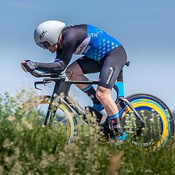 EMMEN (NED) June 16: <br />CYCLING <br />Dutch Nationals Time Trail Women Elite<br />Robin Blummel (Netherlands / Team VolkerWessels)