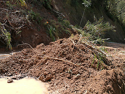 November 2, 2018 - Mountain Province, Philippines - Clearing the landslide going to Natonin town in the Mountain Province continues as there are reported 17 landslides in the area during the wrath of Typhoon Rosita. (Credit Image: © Sherbien Dacalanio/Pacific Press via ZUMA Wire)