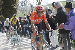 March 9, 2019 - Siena, Italy - Belgian Greg Van Avermaet of CCC Team rides the Strade Bianche one day cycling race in Siena, Italy, Saturday 09 March 2019...BELGA PHOTO YUZURU SUNADA (Credit Image: © Yuzuru Sunada/Belga via ZUMA Press)
