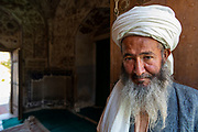 Friendly old man in the Shrine of Khwaja Abd Allah, Herat, Afghanistan