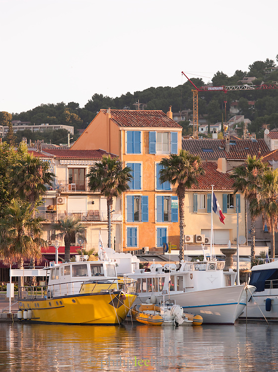 Boats in the harbour at Bandol, France