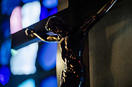 The altar crucifix at Grace Lutheran Church on Tuesday, July 14, 2020, in St. Louis. LCMS Communications/Erik M. Lunsford