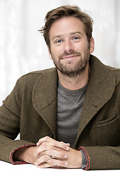 December 11, 2017 - FILE - Golden Globes 2018 Nominees - Nominated for Best Supporting Actor - September 8, 2017 - Toronto, California, Canada - ARMIE HAMMER promotes the movie 'Call Me By Your Name' during the Toronto Film Festival. (Credit Image: © Armando Gallo via ZUMA Studio)