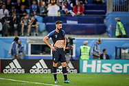 Olivier Giroud of France reacts during the 2018 FIFA World Cup Russia, Semi Final football match between France and Belgium on July 10, 2018 at Saint Petersburg Stadium in Saint Petersburg, Russia - Photo Thiago Bernardes / FramePhoto / ProSportsImages / DPPI