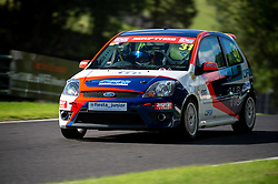 William Orton in action while competing in the BRSCC Fiesta Junior Championship. Picture taken at Cadwell Park on August 1 & 2, 2020 by BRSCC photographer Jonathan Elsey