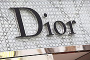 Sign for high end fashion and exclusive brand Dior.