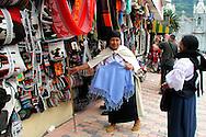 A street vendor in Banos, Ecuador.