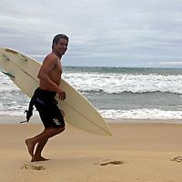 South America, Brazil. Prainha Beach near Rio de Janiero, a popular surf spot in Brazil.
