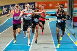 Ramsey Angela, Liemarvin Bonevacia, Tony van Diepen in action on the 400 meter during AA Drink Dutch Athletics Championship Indoor on 21 February 2021 in Apeldoorn.