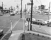 Y-580718-06.  Looking north-east on Sandy Blvd. & Burnside at SE & NE 12th. Tik Tok Drive In on right. July 18, 1958