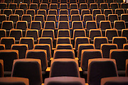 empty seats in a modern auditorium