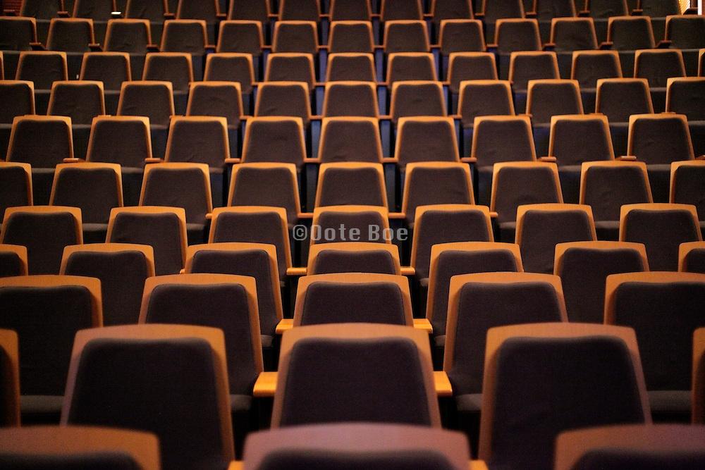empty seats in a modern auditorium