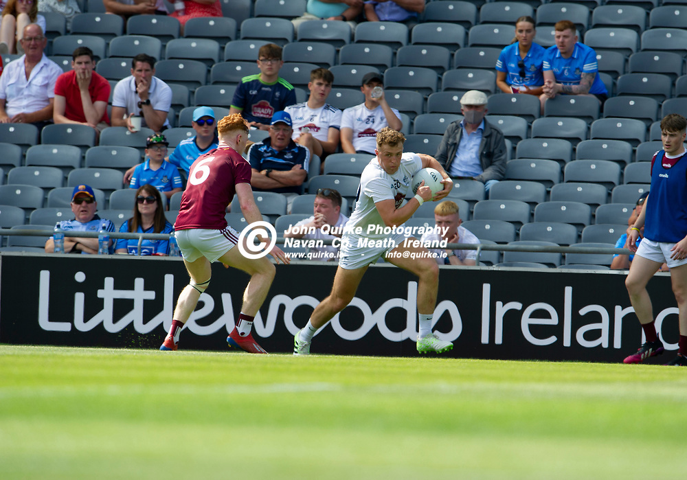18-07-21. Kildare v Westmeath - Leinster SFC Semi-Final at Croke Park.<br /> Shane O'Sullivan, Kildare breaking away from Ronan Wallace, Westmeath in the Leinster SFC Semi-Final.<br /> Photo: John Quirke / www.quirke.ie<br /> ©John Quirke Photography, 16 Proudstown Road, Navan. Co. Meath. (info@quirke.ie / 046-9028461 / 087-2579454).