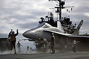 F/A-18C Hornet, VFA-137, on catapult