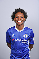 COBHAM, ENGLAND - AUGUST 11: Willian of Chelsea during the Official Portrait session at Chelsea Training Ground on August 11, 2016 in Cobham, England. (Photo by Darren Walsh/Chelsea FC via Getty Images)
