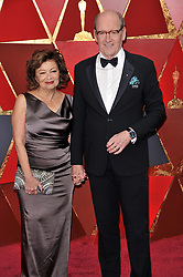 Sharon R. Friedrick and Richard Jenkins  walking on the red carpet during the 90th Academy Awards ceremony, presented by the Academy of Motion Picture Arts and Sciences, held at the Dolby Theatre in Hollywood, California on March 4, 2018. (Photo by Sthanlee Mirador/Sipa USA)