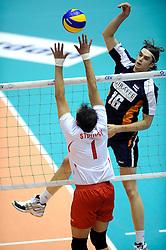 29-05-2010 VOLLEYBAL: EK KWALIFICATIE MACEDONIE - NEDERLAND: ROTTERDAM<br /> Nederland verslaat Macedonie met 3-0 / Dick Kooy<br /> ©2010-WWW.FOTOHOOGENDOORN.NL
