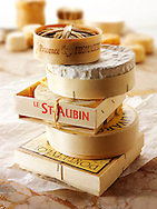Banon, Camembert, St Aubin, Livorat and Pontleveque French traditional regonal Cheeses