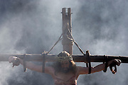 The Passion of Jesus is performed in London's Trafalgar Square by members of Wintershall Charitable Trust. Played annually on Good Friday it celebrates the crucifixion and resurrection of Jesus Christ. The cast re-enacts the Christian Biblical story to an audience of thousands and the main character is played by professional actor James Burke-Dunsmore.