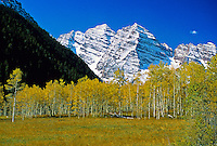 Maroon Bells, near Aspen, Colorado USA