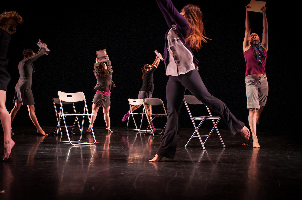 Urbanity Dance, Spring Revue dress rehearsal, at the Boston University Dance Theatre
